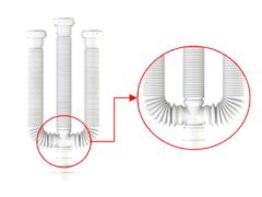 Tubo Extensivo Triplo Branco Anel Plástico Plasbohn